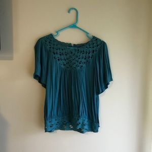Urban Outfitters Teal Blouse